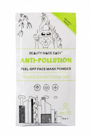 BEAUTY MADE EASY Anti-Pollution Peel-Off Face Mask Powder 10 g