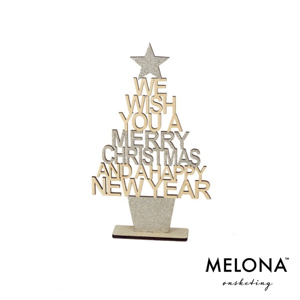 """We wish you a Merry Christmas and a Happy New Year"" 24 cm"
