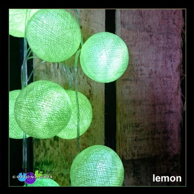 Cottonlights- LEMON - 20 Cottonballs - Batteri
